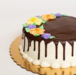 Buttercream Frosted Cake with Chocolate Drip Cake