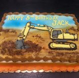Custom Construction Cake