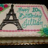 Custom Eiffel Tower Cake