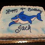 Custom Shark Birthday Cake