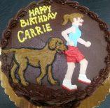 Custom Girl Runner with Dog Cake